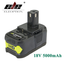 ELEOPTION 18V 5000mAh Li-Ion Rechargeable Battery For Ryobi P108 RB18L40 P2000 P310 For Ryobi ONE+ BIW180(China)