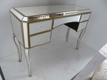Antique Gold rimming mirrored dressing table
