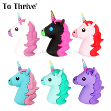 2000mAh Portable Power Bank Battery Charger Unicorn Cartoon USB For Iphone 4S 5 5S 6 6S SE Xiaomi Sumsung(China)