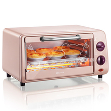 DKX-A09A1 High Quality 9L Capacity Electric Appliance Pizza Oven Convection Smokehouse Mini Multifunction Oven 800W Power pink(China)