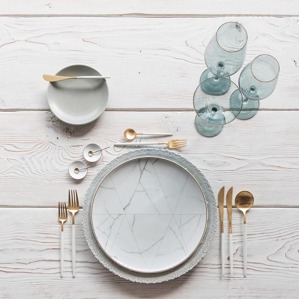 Lekoch-4PCS-Set-Tableware-Stainless-Steel-Spoons-Forks-Knives-Kit-White-Gold-Flatware-Sets-Food-Grade (3)
