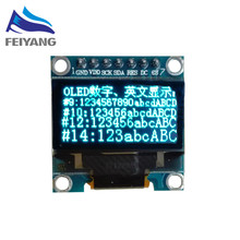 "1pcs SAMIORE ROBOT 0.96""blue 0.96 inch OLED module New 128X64 OLED LCD LED Display Module 0.96"" SPI Communicate"