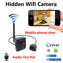 Onvif Wireless Camera Outdoor 720P Mini IP Camera Wifi Antenna CCTV Video Audio Camera H.264 Smallest 1.0MP Home Security Camera