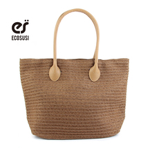 ecosusi 2016 Summer New Arrival Beach Bag Woven Straw Bag Lady Fashion Shoulder Bag Light Weight Bag