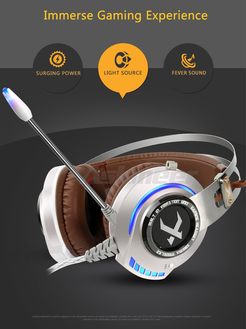 XIBERIA K2 Computer Gaming Headphones Stereo Surround Sound Glowing LED Light Game Headset Gamer with Microphone fone de ouvido (2)