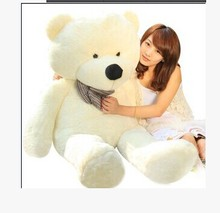 Stuffed animal 120cm white tie Teddy bear plush toy soft doll gift w1649(China)
