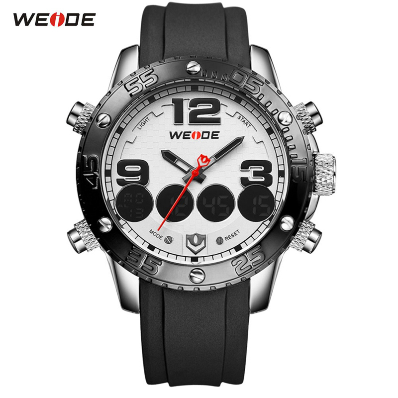 WEIDE Brand Mens Watches Analog Digital Quartz Casual Sports Wristwatch Waterproof Military Army sport Watch Relogio Masculino<br>