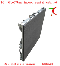 576mm*576mm indoor 16scan P6 die-casting aluminum hd rental screen for advertising,27777dots/m2(China)