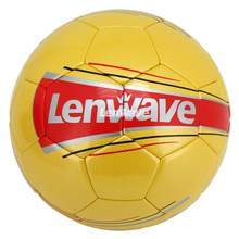 Lenwave Brand Yellow PU Soccer Balls Size 5 Champions League Ball Match Football Ball