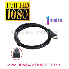 Micro Hdmi 1.0m Cable to TV HDTV For Sony DSC WX220 TX30 WX350 a7RII a7R II RX100 IV RX10 Mark II