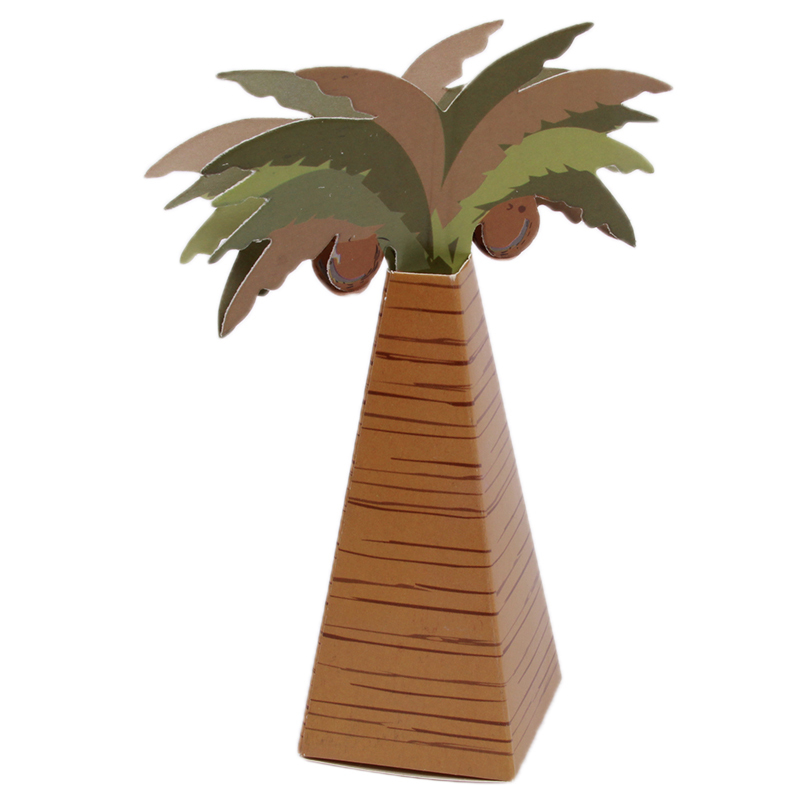 Free Shipping Wedding Favor Box Coconut Trees candy box Event Party Supplies 10pcs(China (Mainland))
