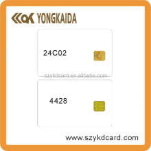 Yongkaida Factory Wholesale 4000 pcs/lot 1K Blank Card ATMEL 24C16 Chip ISO 7816 Read-write Smart IC Card with Free Samples(China)