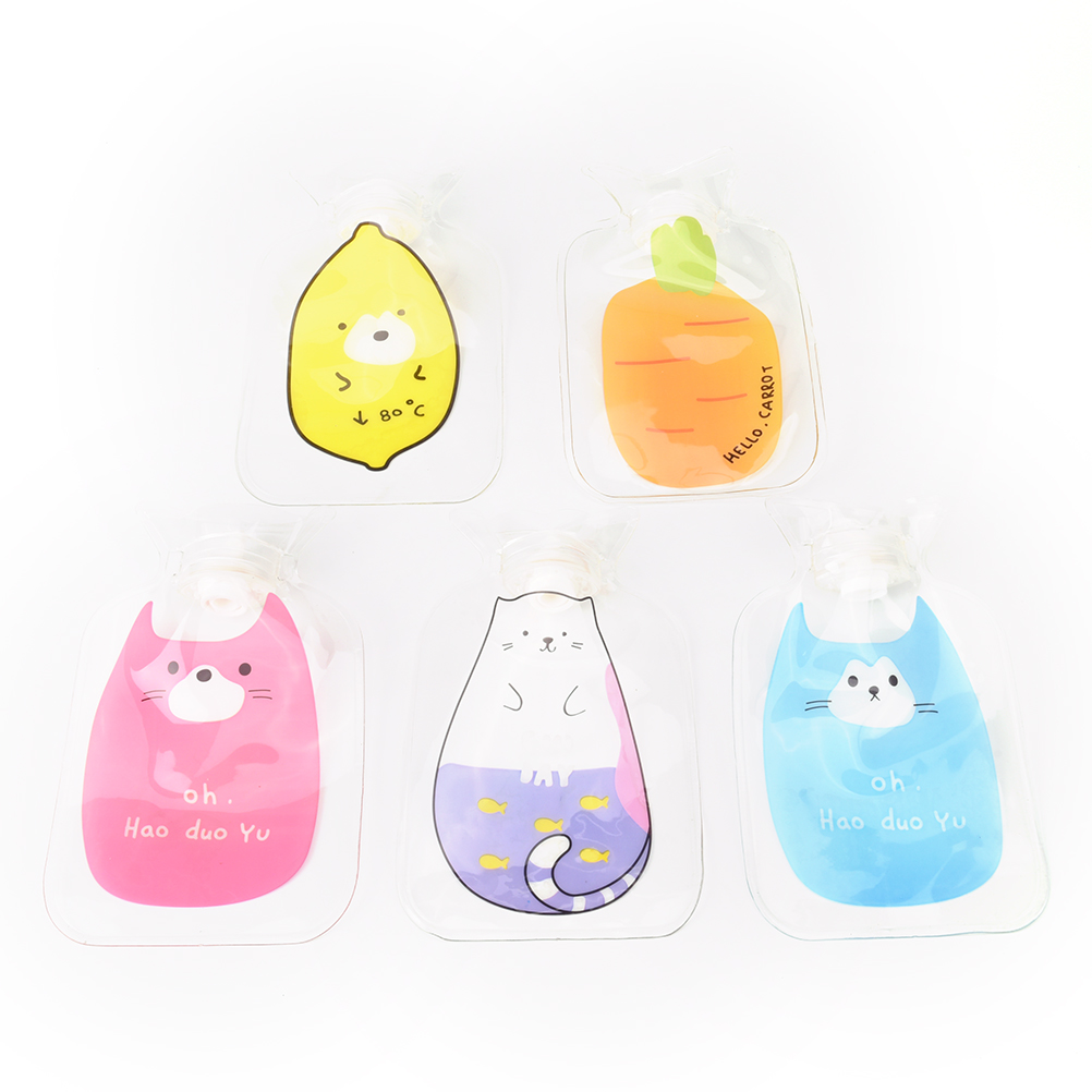 21.5*13.5 Cm Creative Cute Cartoon PVC Hot Water Bottle Bag Safe And Reliable Rubber Washable Household Warm Items Home