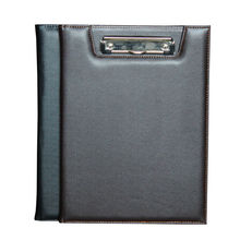 acreative PU leather menu clipboard office file folder a4 with cover metal clip paper document organizer report file holder 1099