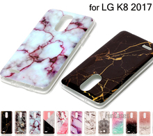 2017 Fashion Marble Style Case For LG K8 2017 Silicon Cover Stone Drawing Case Soft TPU Mobile Phone Cover For LG K8 2017 Coque(China)