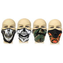 OUTERDO Neoprene Half Face Reversible MTB Bike Mask Ultra Comfortable Cycling Face Mask Lightweight Breathable Cycling Equipment
