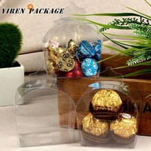 Fancy style clear box / package boxes / 4*6*7cm / gift packing / cases & displays / wedding favor / PVC plastic box A05