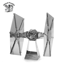 Star Wars Tie Fighter 3D Metal Puzzles Earth Laser Cut Model Jigsaws DIY New Year Gift Building Model  Educational Toy For Kids