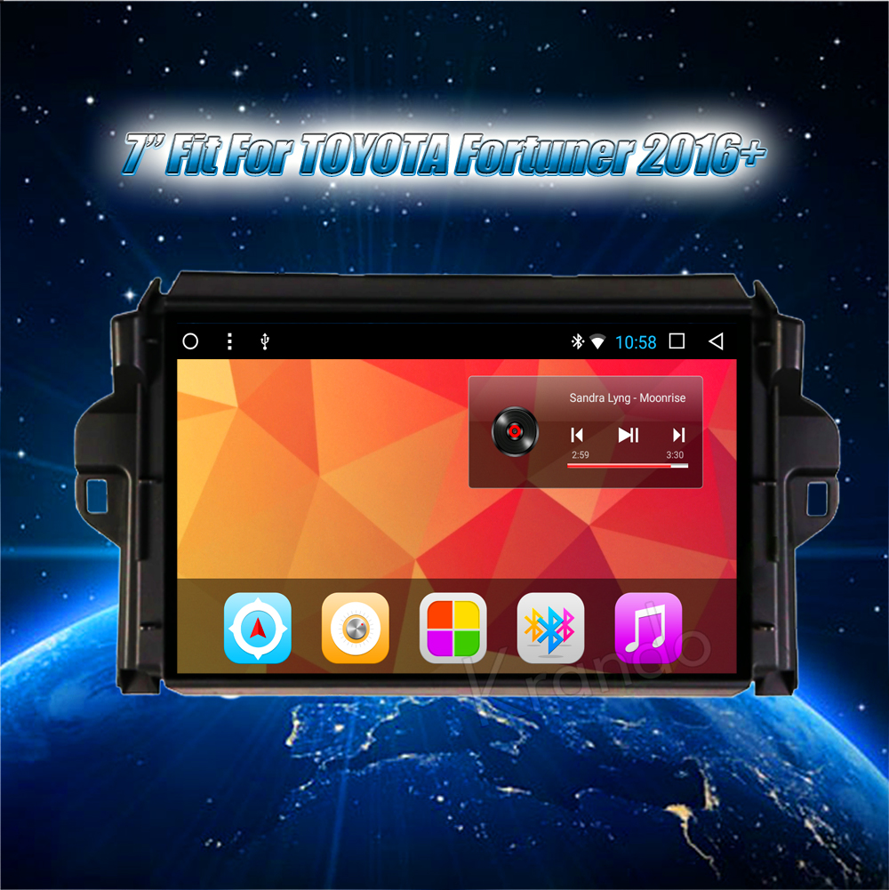 Krando Android car radio gps navigation multimedia system for toyota fortuner (8)