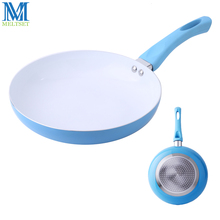 Meltset 1PC 26CM Ceramic Frying Pan Double Bottom Induction Cooking Skillet 3 Colors Fry Pan Non-stick Cookware(China)