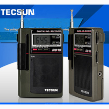 Hot High Quality 100% TECSUN R-818 FM/MW/SW1-6 Multi-band Clock R818 Radio Digital Receiver Digital Demodulation Stereo Radio(China)