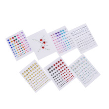Women Eyes Sticker Tattoo Fashion Jewel Makeup Crystal Eyeliner Diamond Glitter Makeup Sticker Bridal Party Makeup 7 Styles