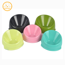 Pet utensil Convenient Feeding Small Dog cat Bowl Green Non-slip Oblique Mouth Durable Feeder Pet Bowl Portable single bowl PB61