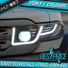 AKD Car Styling Head Lamp for FJ Cruiser Headlights LED Headlight Daytime running DRL Bi-Xenon Lens HID Automobile Accessories