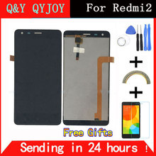 Q&Y QYJOY Black LCD+TP+Frame for Xiaomi Redmi2 Redmi 2 LCD Display+ Touch Screen Digitizer Assembly+Frame For Red Rice 2