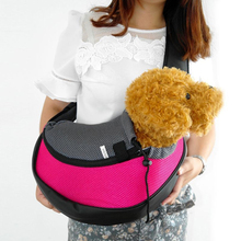 Small Pet Dog Cat Kitty Carrier Outdoor Travel Oxford Single Shoulder Bag Pet Products 5 Colors Blue Yellow Green Rose Red(China)