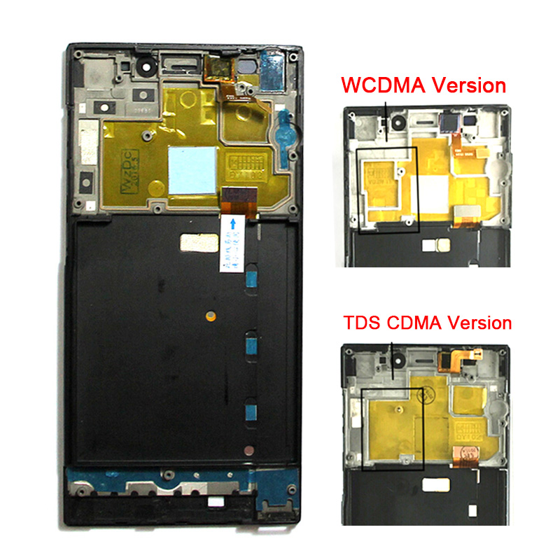 Original Mi3 LCD Display Frame +Digitizer Touch Screen Replacement For Xiaomi 3 M3 LCD Screen Parts Black WCDMA TDS CDMA Version