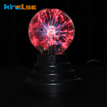 Hot 3 inch Magic Plasma Ball Retro Light Kids Room Decor Gift Box Lightnings Light Lava Lamp Party Cristal Lamp Ninght Light(China)