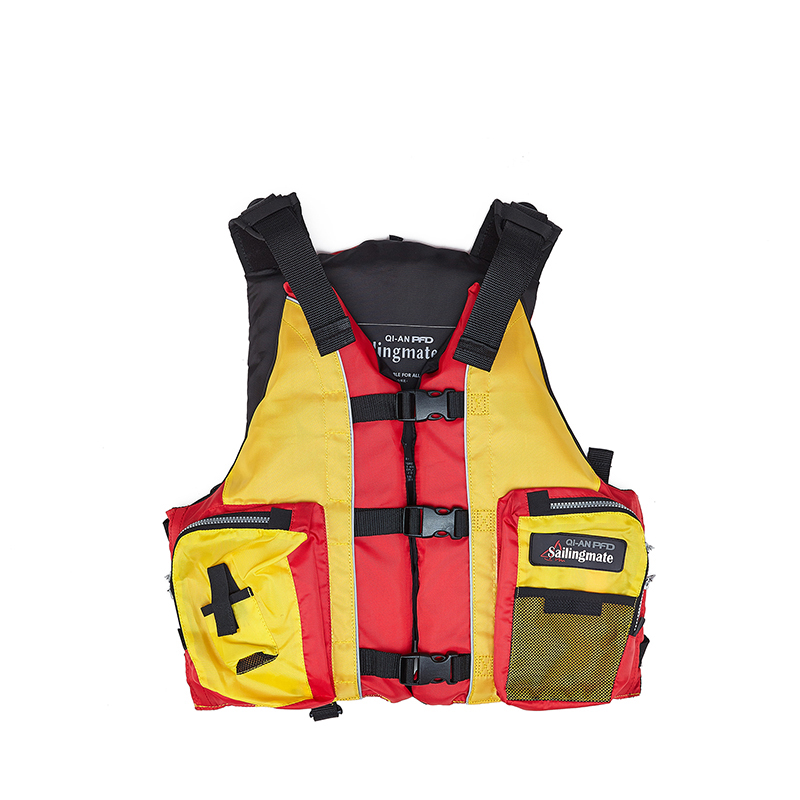 QIAN SAFETY Adult Accessorial Life Vest With EPE Foam Material and Whistle Dedecated Water Sports Swim Accessorial Life Jacket(China)