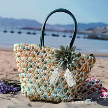 Straw Bag 2015 New Hot Summer Fashion Beach Bags Woven Light Material Women Bag Free Shipping A1118
