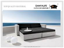 DYBED-D4204 Danyalife Luxury Villa Backyard Synthetic Wicker Sofa Bed