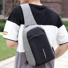Luxury shoulder bag 11inch Men's Laptop crossbody bags Large Capacity Anti Thief School Bag Multifunction USB Charging bolsas #T(China)