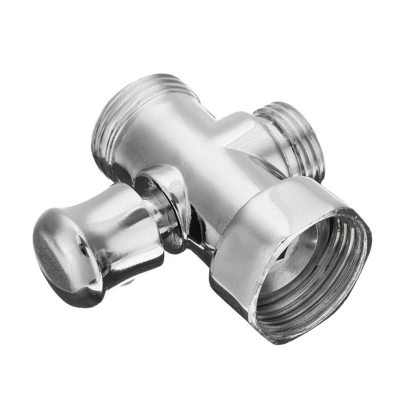 3 Way Shower Diverter Valve 3/4\`\` 1/2\`\` BSP T-adapter Valve Connector for Bathroom Toilet Bidet Shower Head Bathroom Accessories