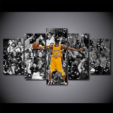 HD printed 5 piece canvas art kobe basketball showtime painting wall pictures for living room modern free shipping/CU-1972B