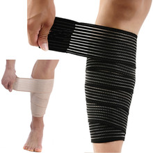2pcs/lot 1200mm Spirally Wound Elastic Bandage Shank Knee Pad Shin Guard Protection Sports Fitness Gym L109(China)