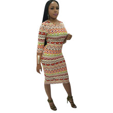 2018 African Clothes Dashiki Traditional Clothes Printed Dress Women  Clothing Long Dress African Dresses For Women 4c183d27c3e4