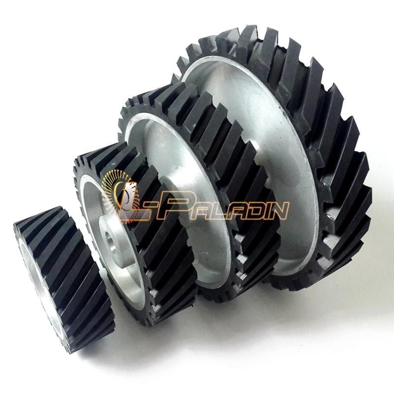 4 pieces of 6 8 10 12 Assorted Grooved Rubber Wheel Belt Sander Polisher Wheel Sanding Belt Set<br><br>Aliexpress