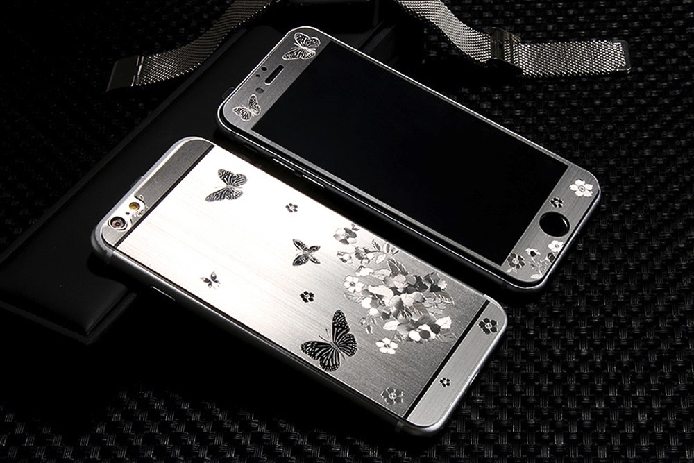 2pcs Front Back Luxury Gold 3D Painting Full Cover Color Tempered Glass font b Case b