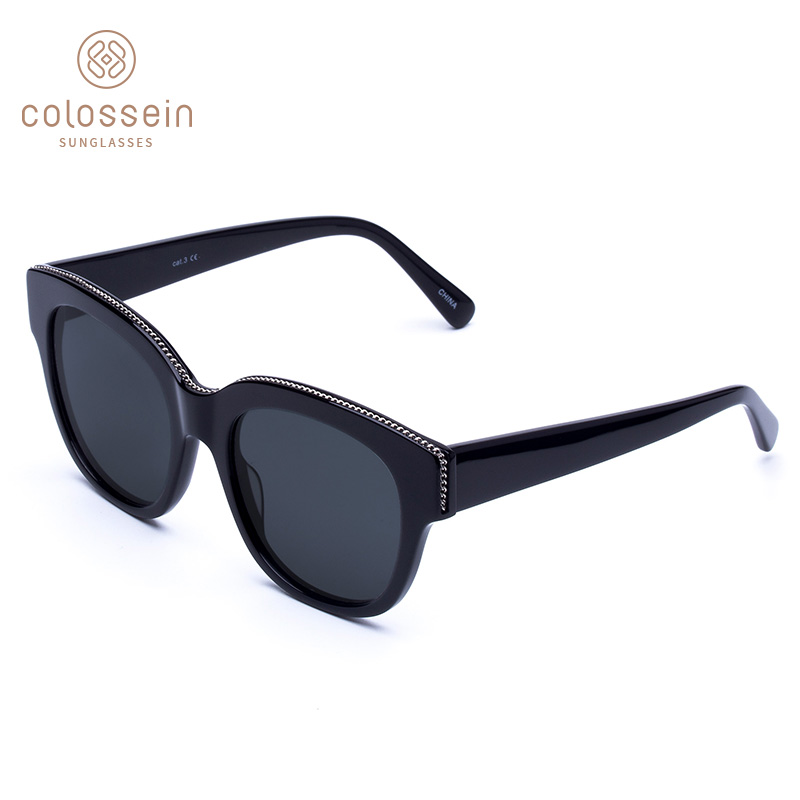 COLOSSEIN Sunglasses Women Vintage Retro Cat Eye Coating Sun Glasses Polarized Men Outdoor Driving Eyewear lentes de sol hombre
