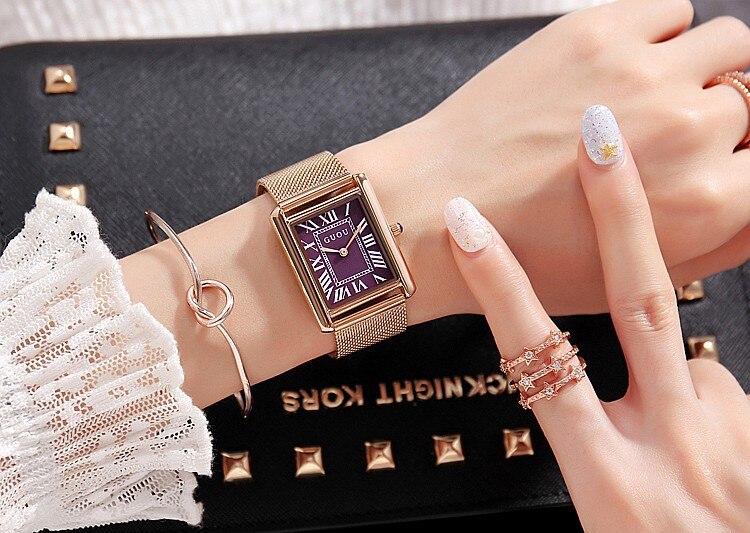 New Fashion High Quality slim Watches Women Luxury Brand Stainless Steel Bracelet thin ladies watch Quartz Dress reloj mujer