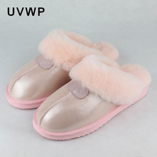 Natural Sheepskin Fur Slippers Fashion Female Winter Slippers Women Warm Indoor Slippers Top Quality Soft Wool Lady Home Shoes(China)