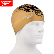 Speedo Professional Silicone Swimming Cap Golden Large Size For Men Or Women Long Hair(China)