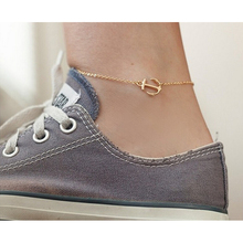 Beach Anklet Fashion Simple Design Anchor Pandent Chain Foot Bracelet Ankle Foot Sandal Chain Anklets Foot Jewelry