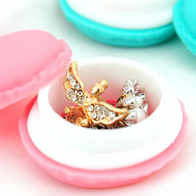 4 Pcs Jewelry Box Silicone Storage Cute Pill Case Cigarette Case Macaron Rubber Candy Color Mini Storage Box Modern Small Hold