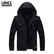 Military Jacket Winter Cargo Coat With Velvet Casual Man Jackets Army Outerwear Clothing