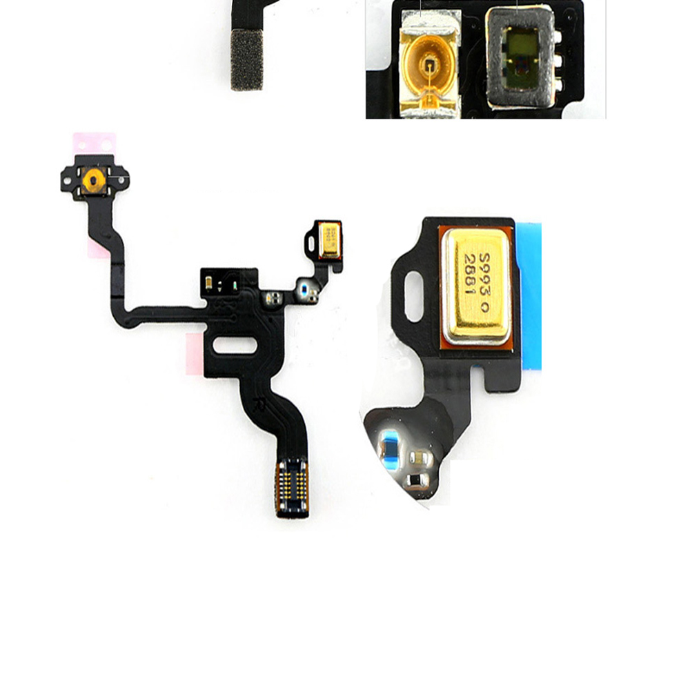 10 pcs/lot Power Button Flex Cable Ribbon Light Sensor Power Switch On / Off Replacement for iPhone 4 4G(China (Mainland))
